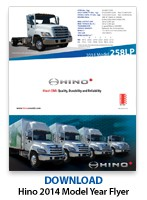 Hino 2014 Model Flyer