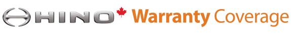 Hino warranty coverage