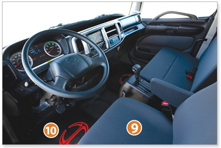 Hino commercial truck interior customization options